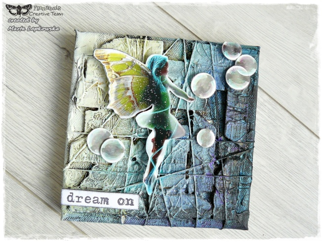 ellana scrap ellanascrap zoom sur marta lapowska maremi's small art toile canvas mixed media dream on