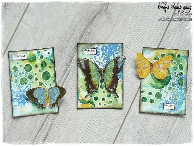 ellana scrap ellanascrap zoom sur marta lapowska maremi's small art carte card atc papillon butterfly