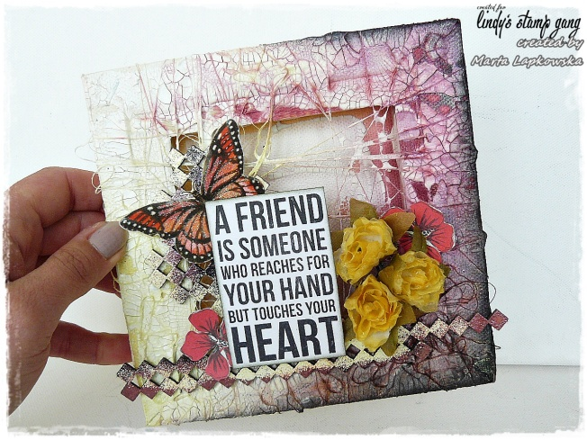ellana scrap ellanascrap zoom sur marta lapowska maremi's small art frame canvas toile a friend is someone who reaches for your hand but touches your heart