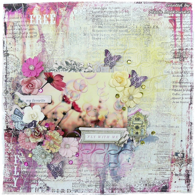 ellana scrap ellanascrap zoom sur marta lapowska maremi's small art page layout fly with me