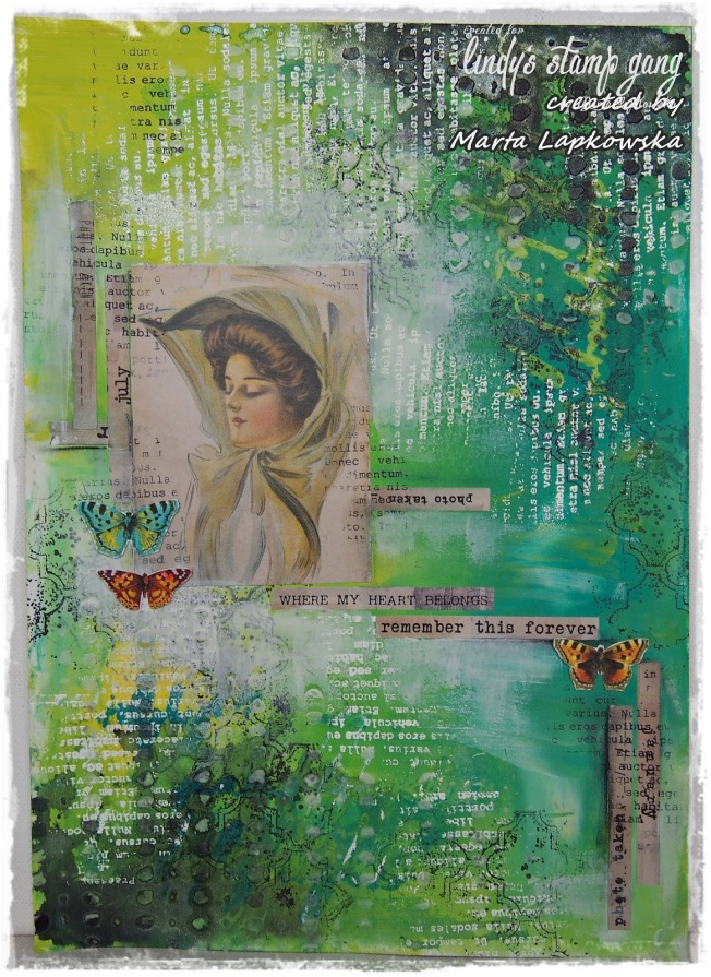 ellana scrap ellanascrap zoom sur marta lapowska maremi's small art mixed media toile canvas remember this forever
