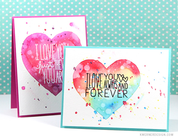 kristina werner design carte card i love you je t'aime coeur heart