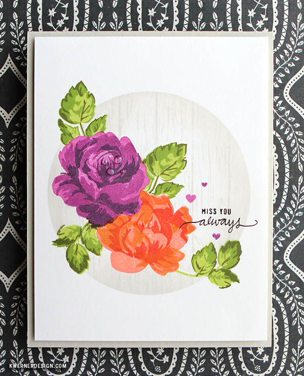 kristina werner design carte card miss you always manque