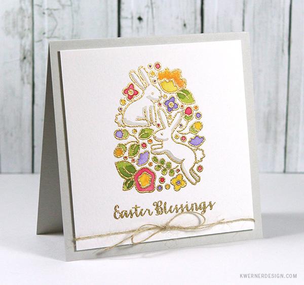 kristina werner design carte card easter bunny pâques lapin