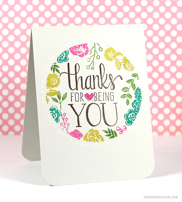 kristina werner design carte card thanks for being you merci d'être toi