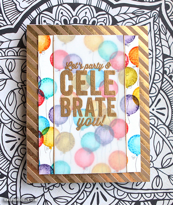 kristina werner design carte card celebrate célébration