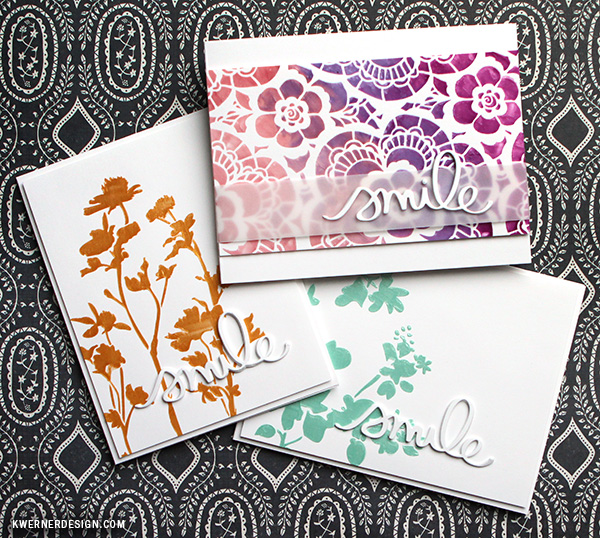 kristina werner design carte card smile