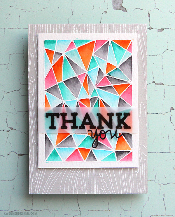 kristina werner design carte card thank you geometric géometrique remerciement