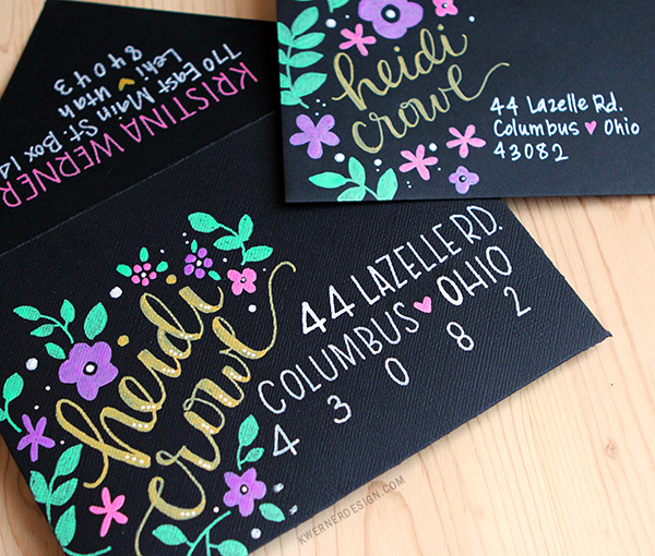 kristina werner design carte card enveloppe
