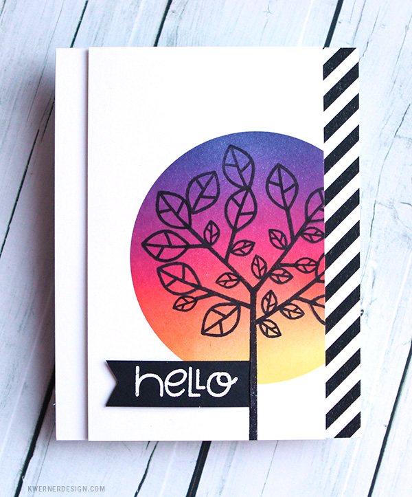 kristina werner design carte card hello