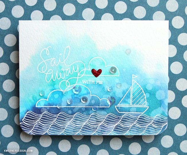 kristina werner design carte card sail away with me love amour