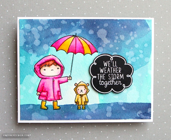 kristina werner design carte card rain we will weather the storm together ensemble