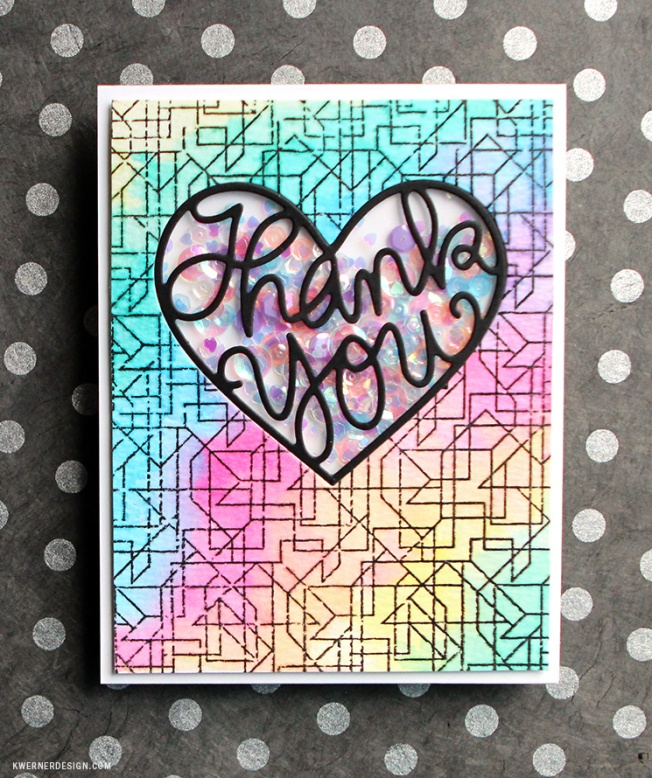 kristina werner design carte card thank you heart coeur merci