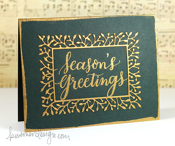 kristina werner design carte card christmas greetings noel