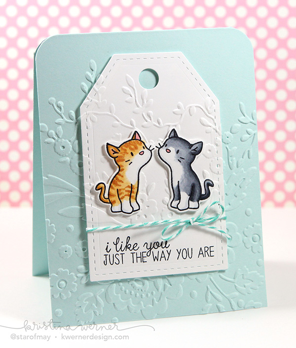 kristina werner design carte card i like you just the way you are chat cat je t'aime juste comme tu es