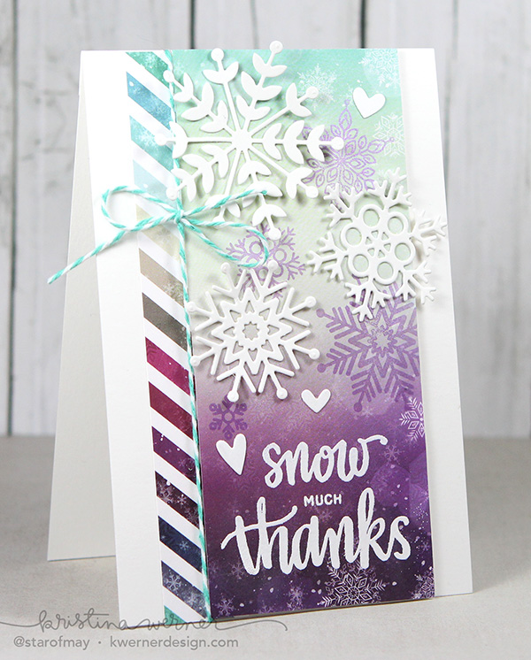 kristina werner design carte card snow much thanks remerciements neige noel