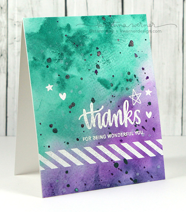 kristina werner design carte card thanks for being wouderful you merci d'être toi