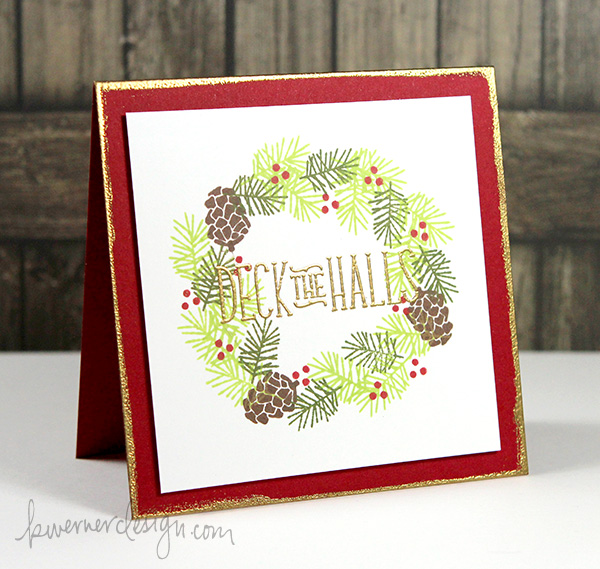 kristina werner design carte card deck the hall christmas noel