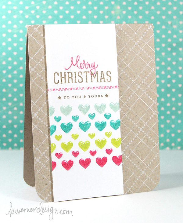 kristina werner design carte card merry christmas to you and yours joyeux noel