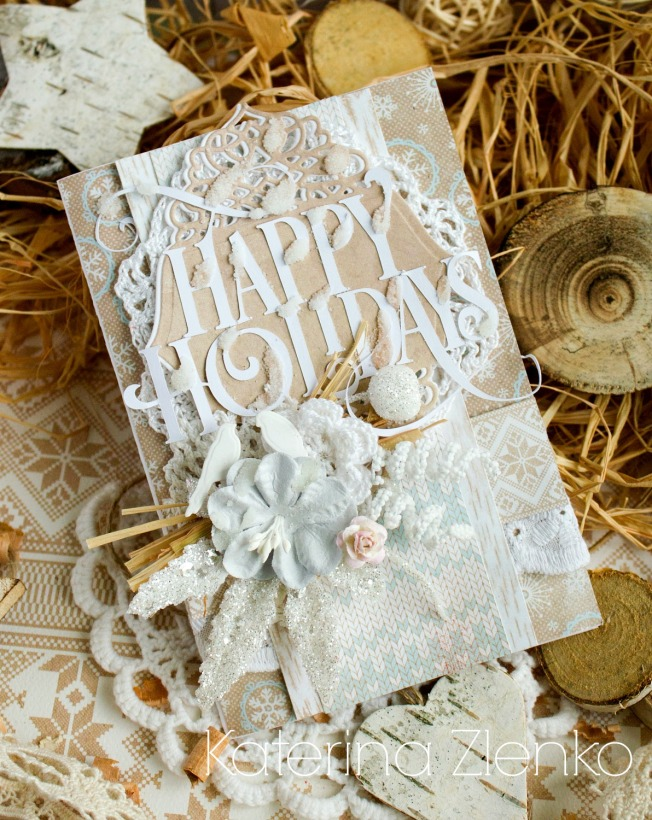 katerina zlenko carte happy holidays blanc vacances