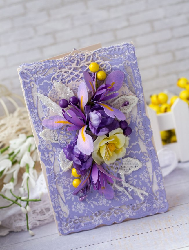 katerina zlenko carte fleur violet jaune