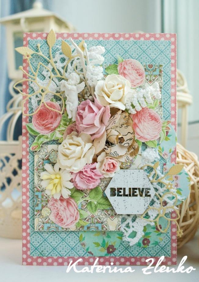 katerina zlenko carte rose bleu fleur believe