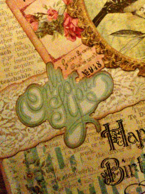 Carte vintage shabbychic détail only for you