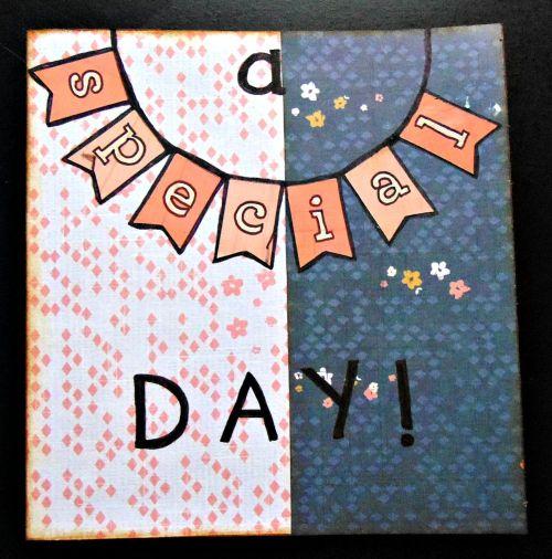 carte scrapbooking fleur oiseau special day