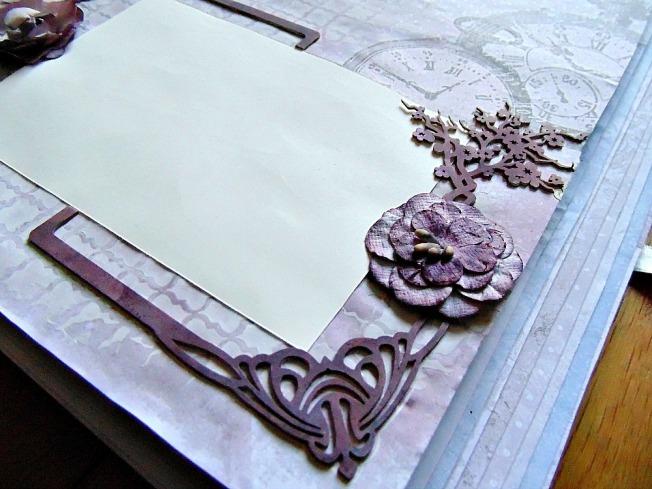 Album livre d'or mariage fleur romantique vintage cerisier art nouveau