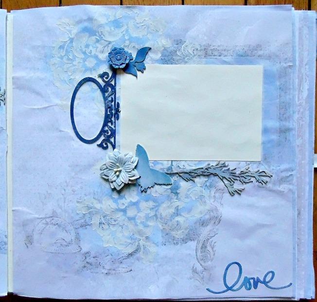 Album livre d'or mariage page love amour bleu blanc romantique