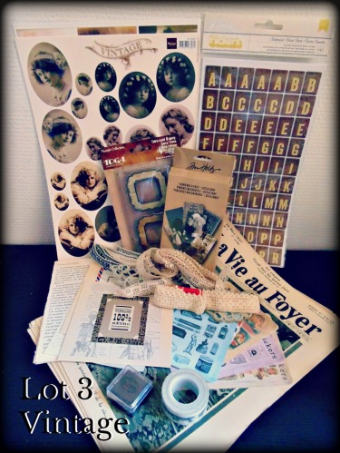 lot 3 anniversaire joli souvenir vintage photo vie au foyer dentelle rétro stickers