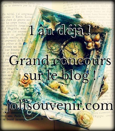 concours joli souvenir blog scrap scrapbooking anniversaire 1 an